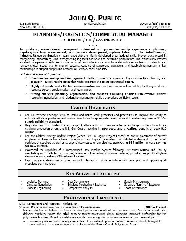 Resume Examples Logistics Resume Examples Pinterest Resume