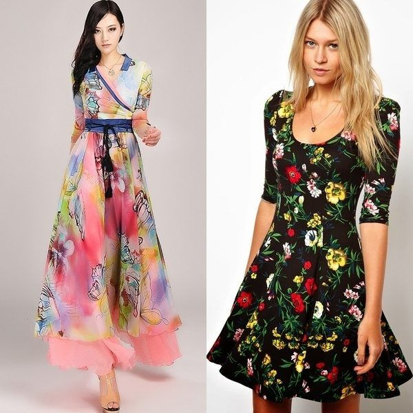 Модные летние платья из шифона