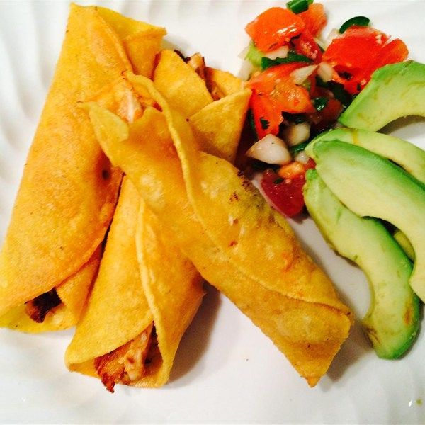 """Great Chicken Taquitos   """"Prepared the taquitos exactly as listed above....delicious!! Family ate them up. Recipe is definitely a keeper!!! Going to try them baked next time."""""""
