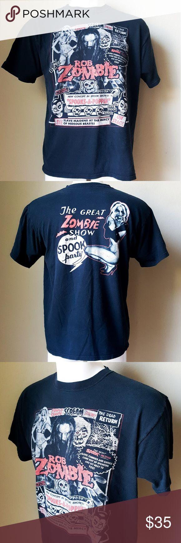 "Rob Zombie Short Sleeve Men's Shirt Anvil Rob Zombie Men's Shirt  Short Sleeve  Preowned Washed  •armpits 22"" •length 26"" -A8- Anvil Shirts Tees - Short Sleeve"