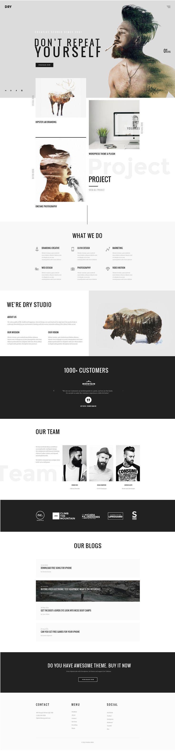 Creative Portfolio Web Themes #DESIGNS #WORDPRESS