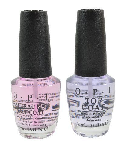 OPI Nail Polish Base Coats Natural Nail Art Base Coat & Top Coat Combo Full Size #OPI
