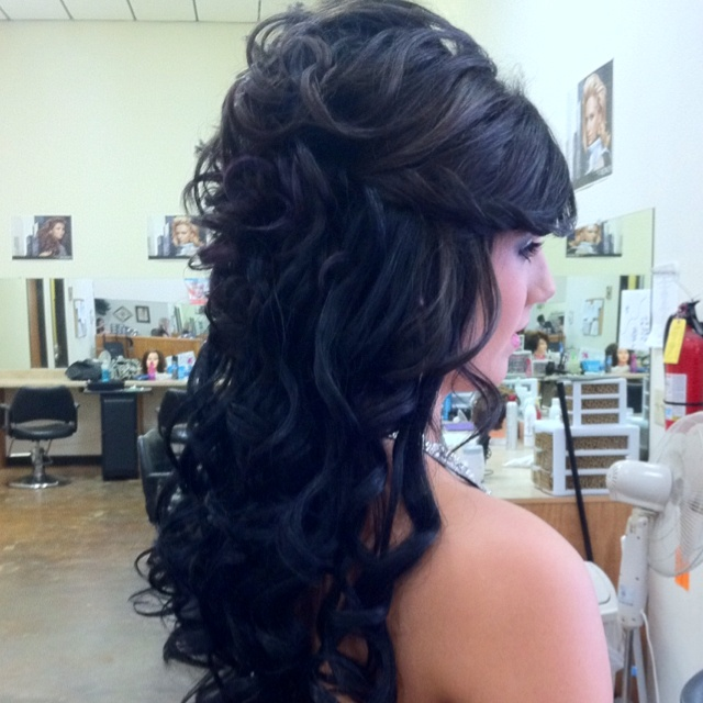 Beautiful prom updo with clip in extensions | hair ...