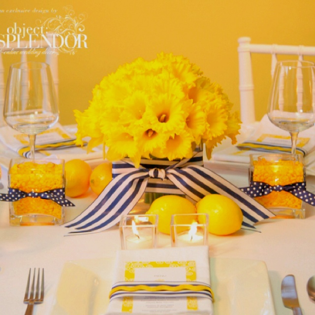 Black White and Yellow-35th birthday party colors