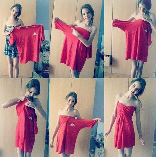 DIY Pixiie.net: How to Make a Dress from a T-shirt - visit for more diy.pixiie.net