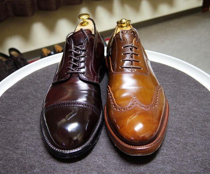 Alden / KOKON 今日はこれで終わりです サフィールのコードバンクリームはだとピカピカにはならないですね水つけて磨くとかコツがあるのかも #kokon #kokonshoes #alden #shoes #mensshoes #cordovan #cordovanshoes #shoecare #ココン #オールデン #紳士靴 #革靴 #靴磨き #シューケア #コードバン