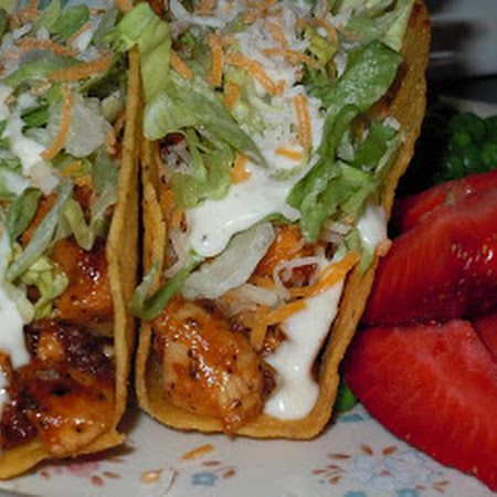 Crock-Pot Chicken Ranch Tacos Recipe  Yummy. Everyone here ate it. Now that's sayin something.