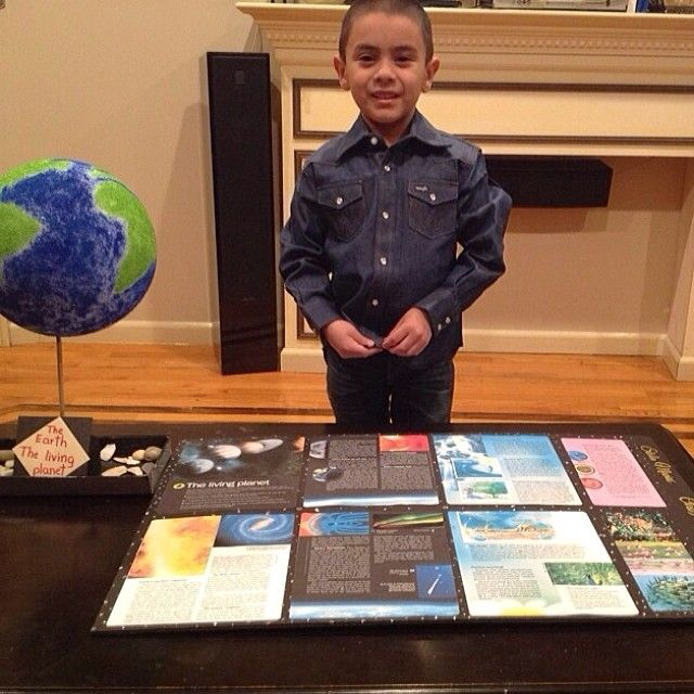 """6 year old (JW) Stalin made this project for his school assignment ... Love this (repinned) """"The Earth...The Living Planet"""""""