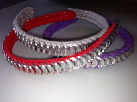 104. Manualidades: Diadema con anillas (Reciclaje) Ecobrisa. - YouTube