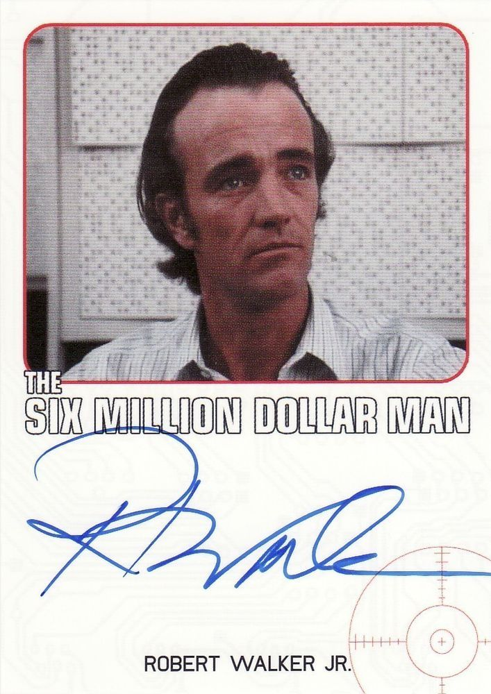Complete Bionic Collection Robert Walker Jr. / Six Million Dollar Man Auto Card