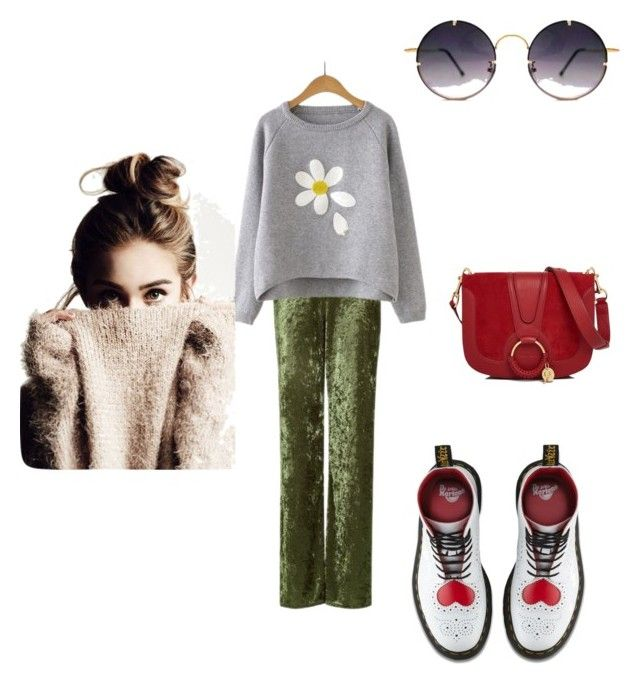"""""""Chamomile 🌼"""" by mariacherepanova on Polyvore featuring мода, Love, Dr. Martens, Spitfire и See by Chloé"""