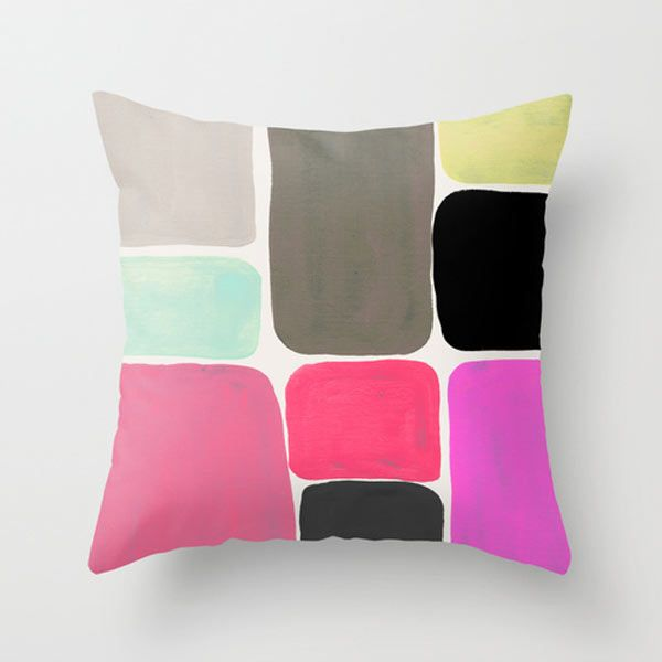 Colour + Pattern pillow by Georgiana Paraschiv. http://design-milk.com/fresh-dairy-shape-pillows/