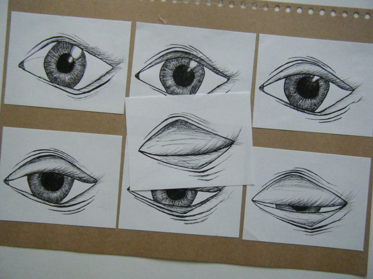 Stop motion animation frame - eyes closing - could also be used as a flip book