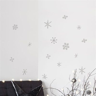 ADzif NL102-R Christmas 2013 Snowflakes Wall Decal