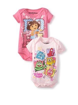 78% OFF Freeze Baby Dora & Yo Gabba Gabba Bodysuit Bundle (Pink/Light Pink)