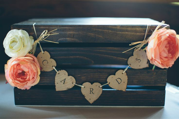 Milk crate wedding card box