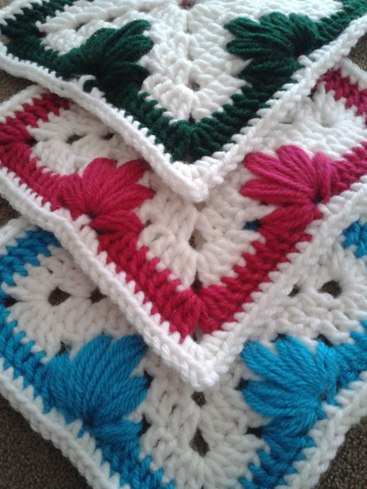 Leaf Stitch Granny Square Pattern (A.K.A. Spiked Cluster ...