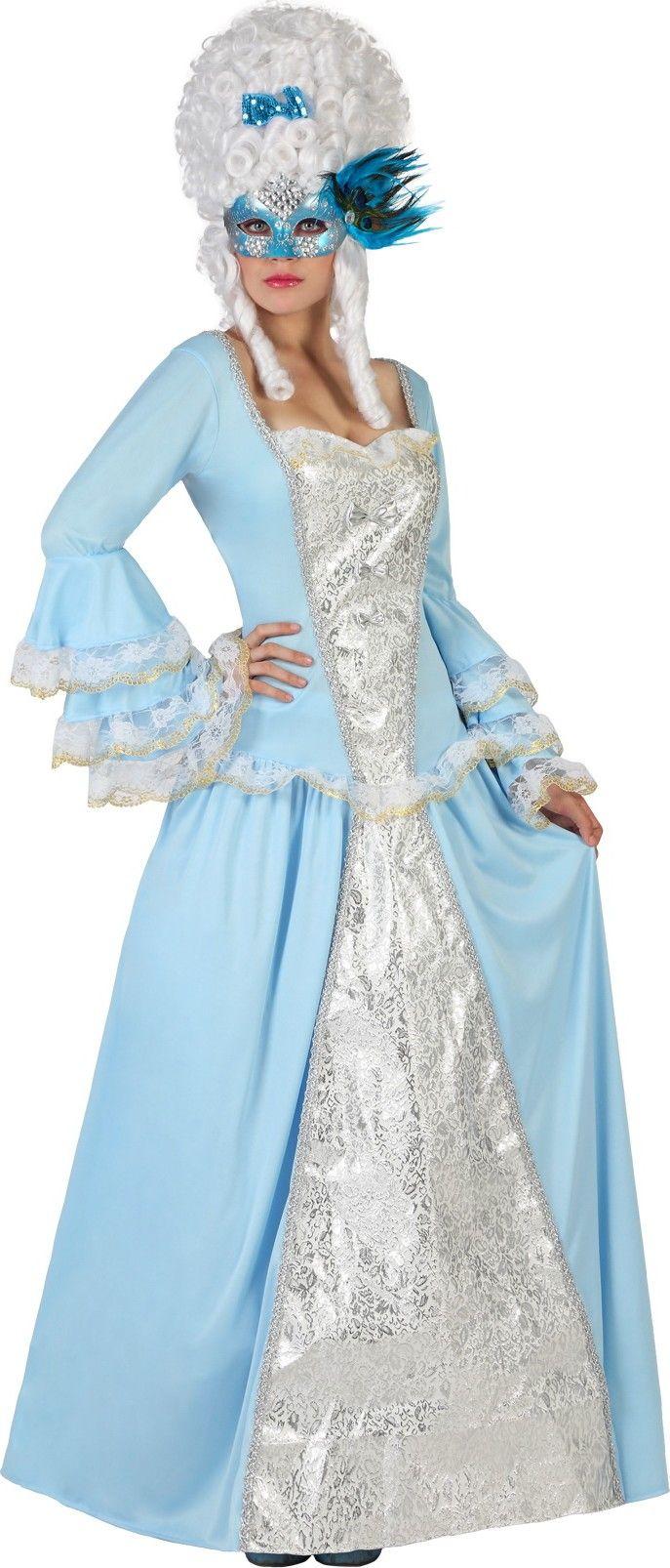 Costume da dama barocca turchese per donna e moltissime idee per i vostri abiti di Carnevale low cost da donna! Non perdetevi le offerte per i costumi di Carnevale da ragazza più belli!