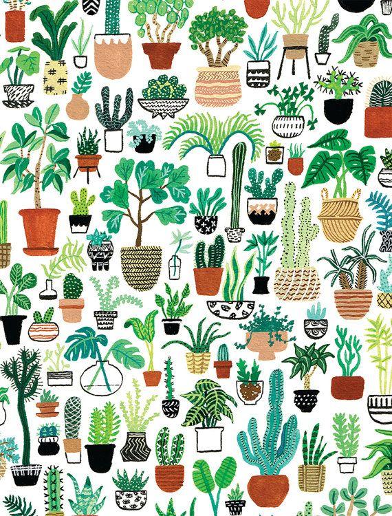 Imprimir parte de la planta por CactusClub en Etsy                                                                                                                                                                                 Más
