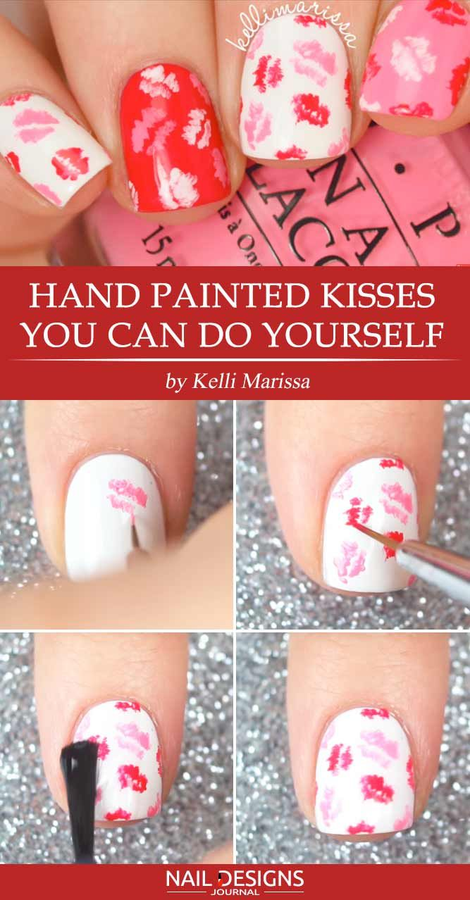 Hand Painted Kisses You Can Do Yourself