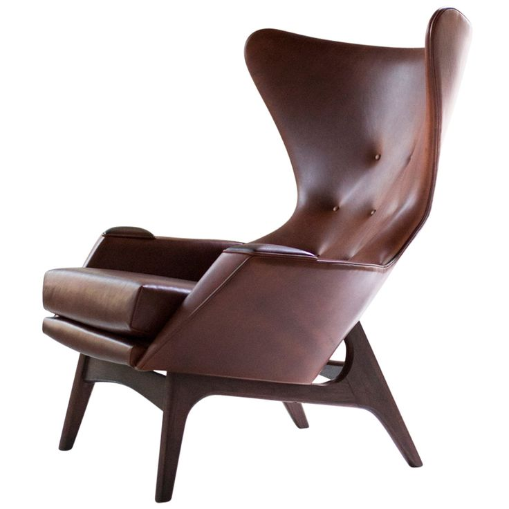 Adrian Pearsall Large Wing Chair for Craft Associates | From a unique collection of antique and modern lounge chairs at https://www.1stdibs.com/furniture/seating/lounge-chairs/