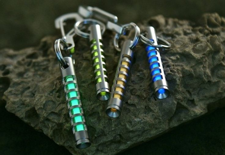 "The TEC-S323 Isotope Fob is a keychain fob specifically designed to hold a standard 3mm x 23mm self-luminous tritium vial. Tritium vials come in a variety of colors, and will glow for many years without requiring any type of ""charging"" from sunlight. Although the Isotope was designed by request for a special customer, it is now available to the general public."
