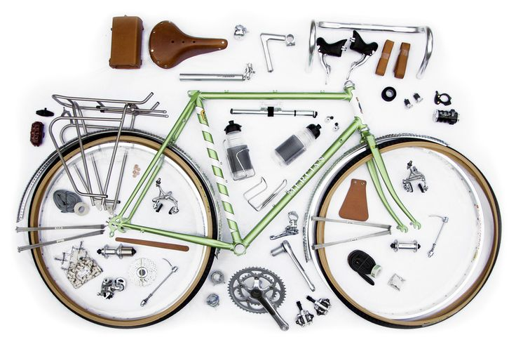 the whole is greater than the sum of its parts.  but this is still pretty cool.Organic Neat, French Twists, Bicycles Exploding, Tours Bikes, Bla Bla, Tours Bicycles, Beach Cruiser, Exploding View, Things Organic