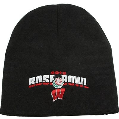 '47 Brand Wisconsin Badgers 2013 Rose Bowl Bound Knit Hat - Black