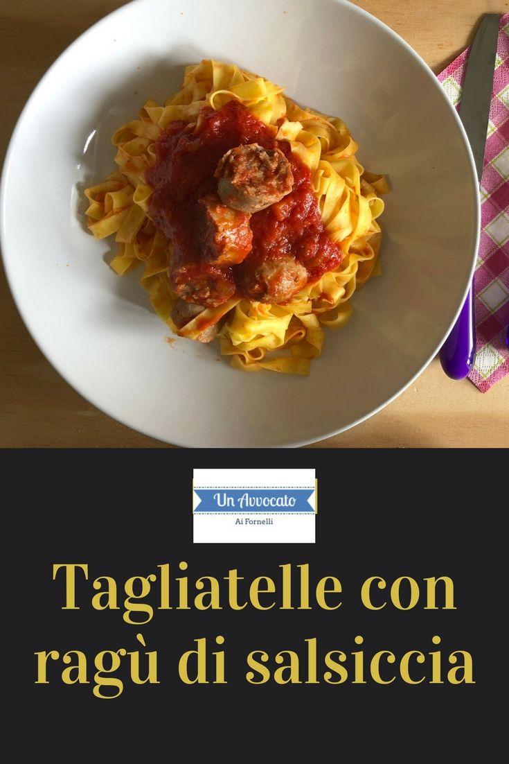 #tagliatelle con #ragù di #salsiccia