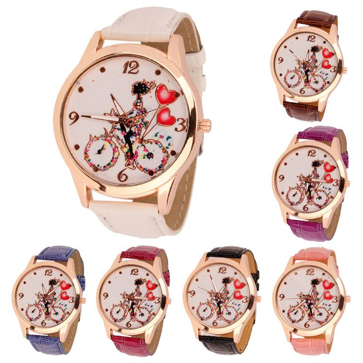 New Fashion Women Dial Classic Design Leather Quartz Ladies Wrist Watch | eBay