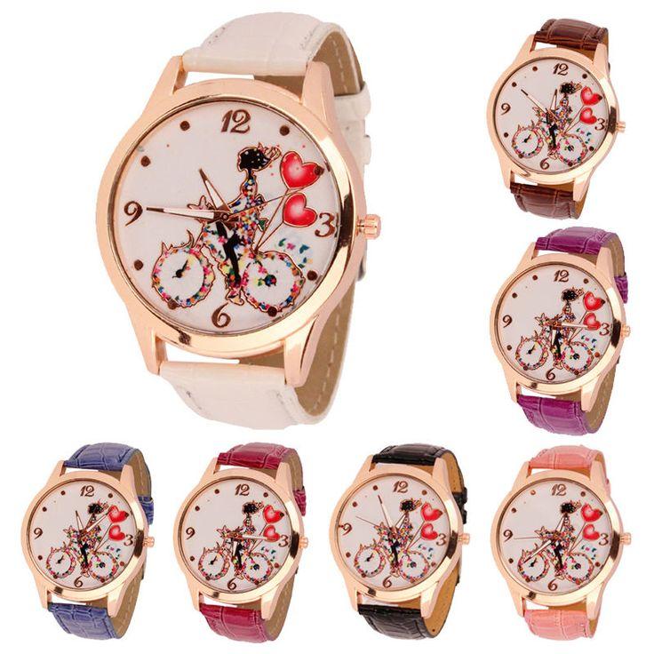 New Fashion Women Dial Classic Design Leather Quartz Ladies Wrist Watch | eBay