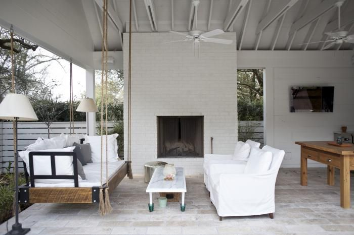 Rope swing couch and outdoor living room -- Heather Wilson Architect in South Carolina, Gardenista
