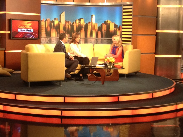 On set at Good Day NY on Fox with Rosanna Scotto & Dave Price this morning.
