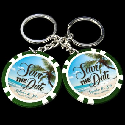 Make your special day one to remember with our wedding custom poker chips and personalized poker chip key chains. #weddingfavors #custompokerchips #wedding #custommadecasino