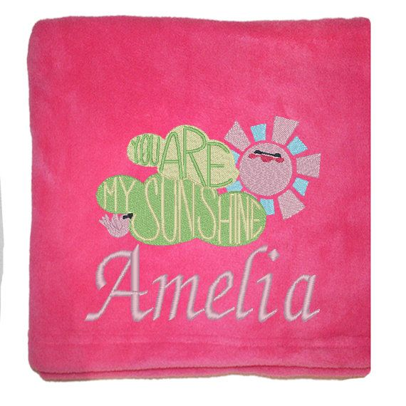 Personalised Baby Girl Blanket  for a  by BabysPreciousGifts