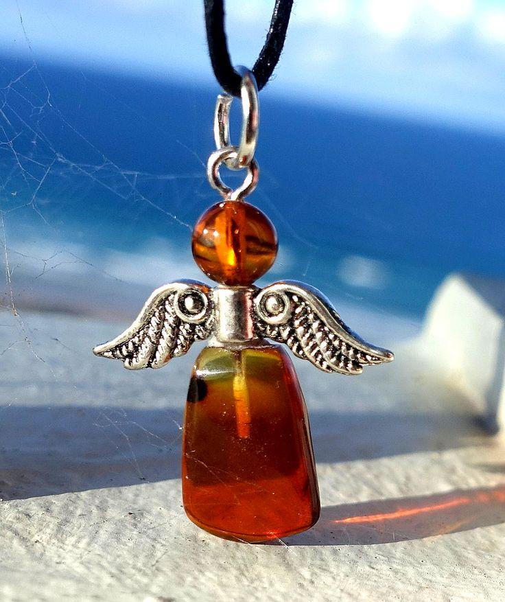 Baltic Amber Pendant, Guardian Angel Pendant, Spiritual