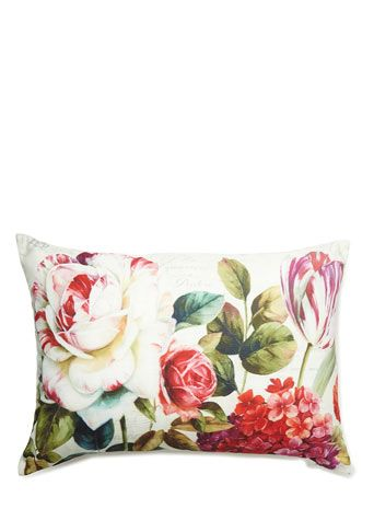 Photographic floral cushion - Vintage Curiosity  - Home, Lighting & Furniture