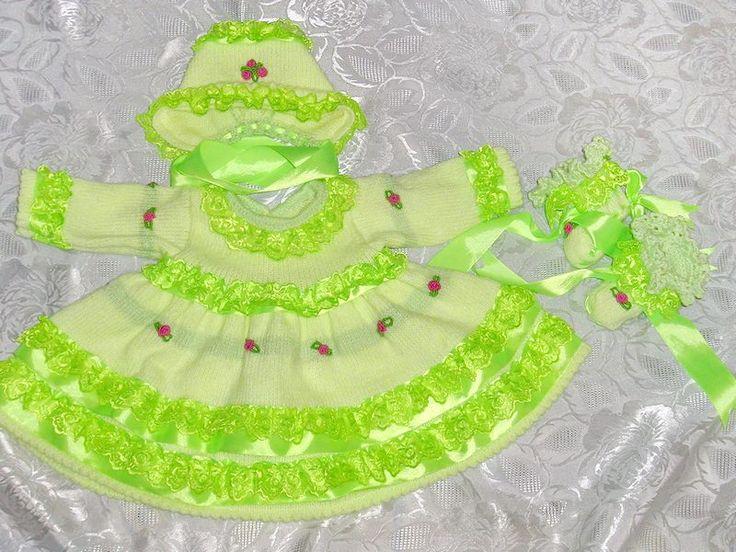 Вязаный костюм для малышки,комплект вязаный для девочки,вязание для малышей,вязание на заказ,ручная работа,красивый комплект для малышки