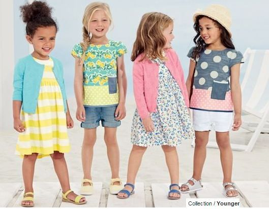 Emily B on the far left from Kidz2000 for Next Fashion