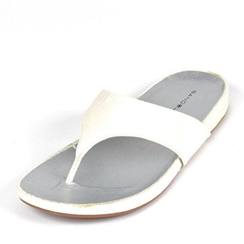Bandolino Womens Piano Flip Flops Sandal Shoe 7 White ** Click on the image for additional details.