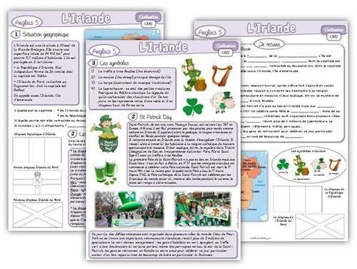 Anglais cm2 civilisation l 39 irlande et la saint patrick english corner pinterest patrick - Christmas cycle 3 ...