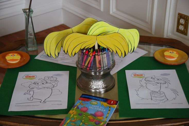 Lorax printables for party activity