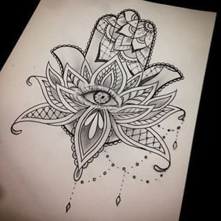 hamsa lotus tattoo - Buscar con Google
