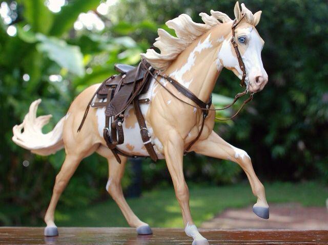 Drastic Custom Model Horse Resin Breyer Peter Stone Palomino Pinto Paint Western Tack
