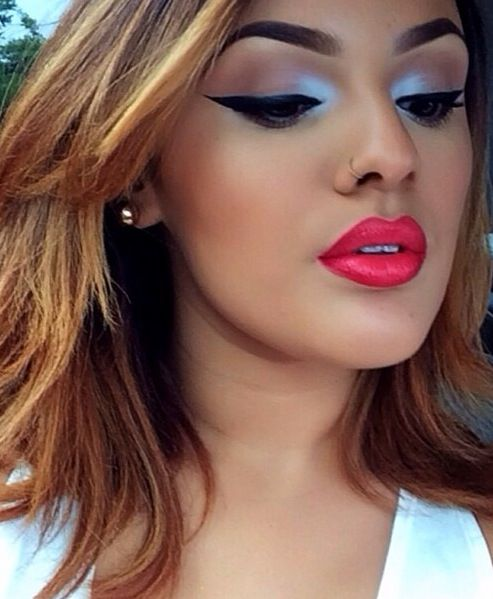 M.A.C lipliner in Cherry & Vegas Volt lipstick