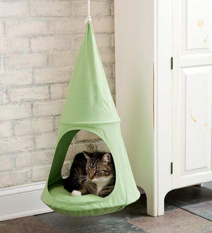Cat Cuddlepod Hanging Cat Bed - most adorable hangout ever.