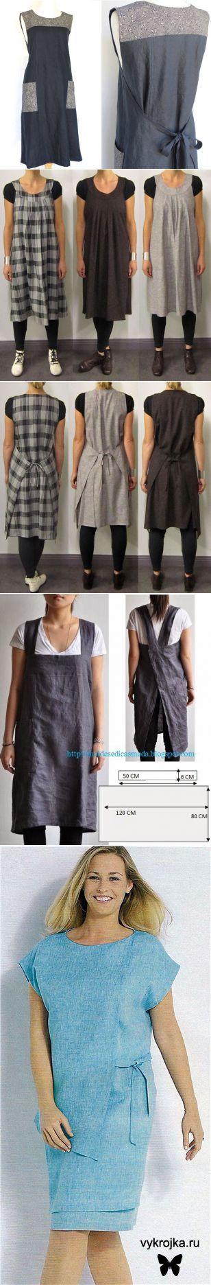 Платье-фартук. Идеи, выкройки