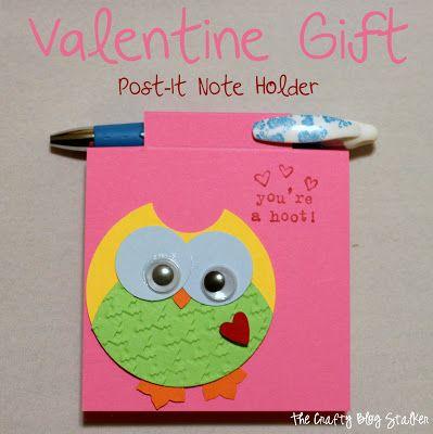 Valentine Gift Post-It Note Holder