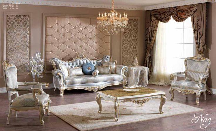 Burgaz Lüks Klasik Koltuk Takımı #Koltuk #Moda #Dekorasyon #Decoration #Home #SofaSet #LivingRoom #Mobilya #Furniture