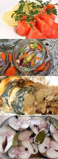 МАРИНАДЫ ДЛЯ РЫБЫ !!!  **Соленая рыбка –любимый деликатес. Это множество блюд, и обычный бутерброд  -в настоящий праздник вкуса! *Вкусных 9 рецептов: Красная рыба -семга, форель, кета, горбуша. Сельдь или скумбрия -за 2ч. Скумбрия с сыром. Сельдь с морковью. Скумбрия. Сельдь с кетчупом. Сельдь в ябл/уксусе. Рыба копченая домашняя -с луком и чаем. Горбуша м/с -под сёмгу.